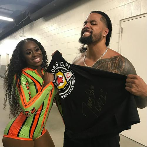 Jimmy Uso WORN & SIGNED Connor's Cure T-Shirt (Connor's Cure: SmackDown - 09/04/18)