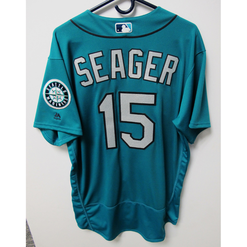 Photo of Seattle Mariners Kyle Seager Game-Used Green Jersey - 7/20/18 vs. CWS