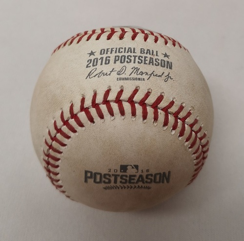 Photo of Authenticated Game Used Baseball - Elvis Andrus Single against J.A. Happ (ALDS Game 2: October 7, 2016 vs TEX). Bottom 2.