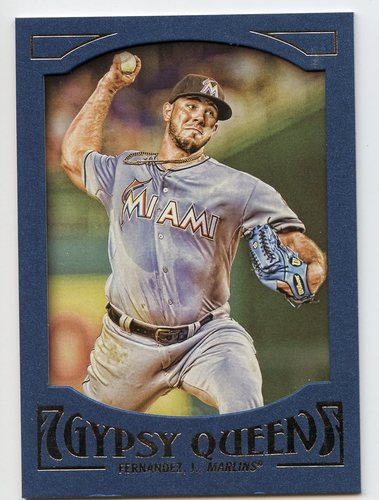 Photo of 2016 Topps Gypsy Queen Framed Blue #33 Jose Fernandez