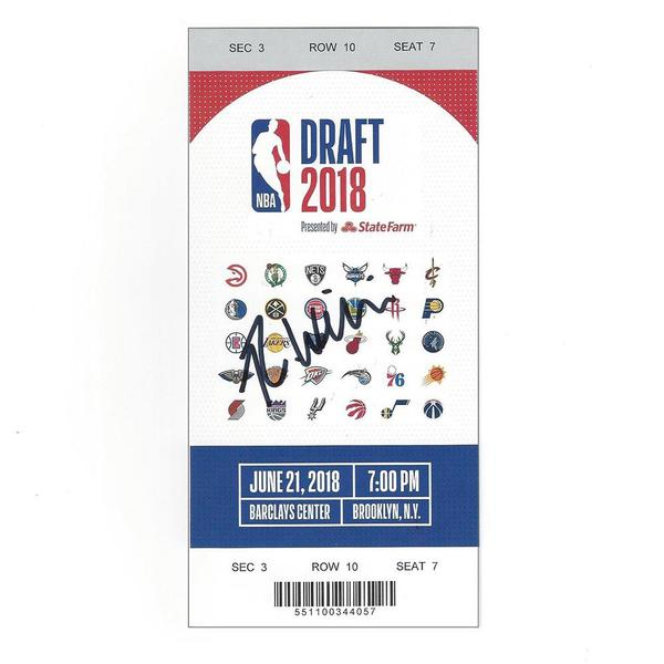 Image of Robert Williams III - Boston Celtics - 2018 NBA Draft - Autographed Draft Ticket