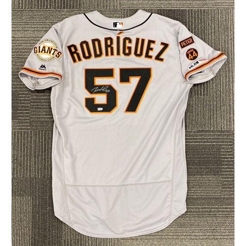 Photo of 2019 Autographed Team Issued Road Jersey Autographed by #57 Dereck Rodriguez - Size 46