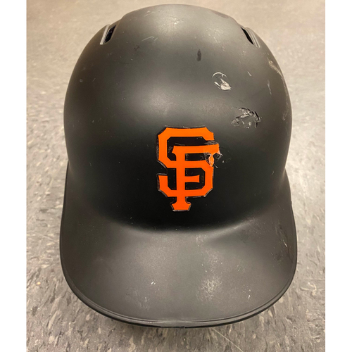 Photo of 2019 Game Used Batting Helmet - worn by #19 Mauricio Dubon - Authenticated on 8/29 and 9/13 - 1st Career MLB Hit - size 7 3/8