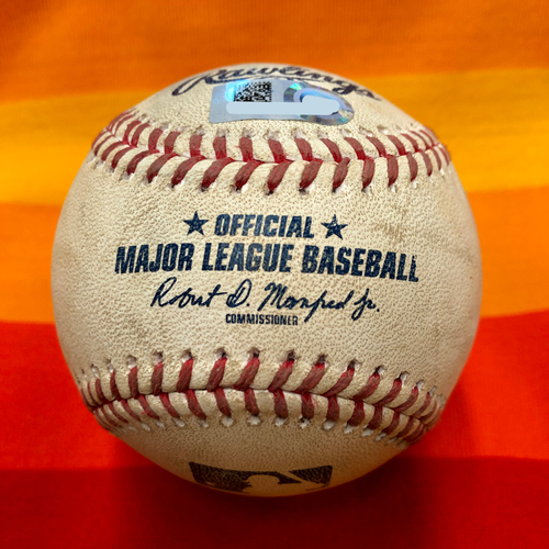 Photo of Game-Used Baseball 7/25/20 Astros Vs. Mariners: Walker to Brantley (Ball)