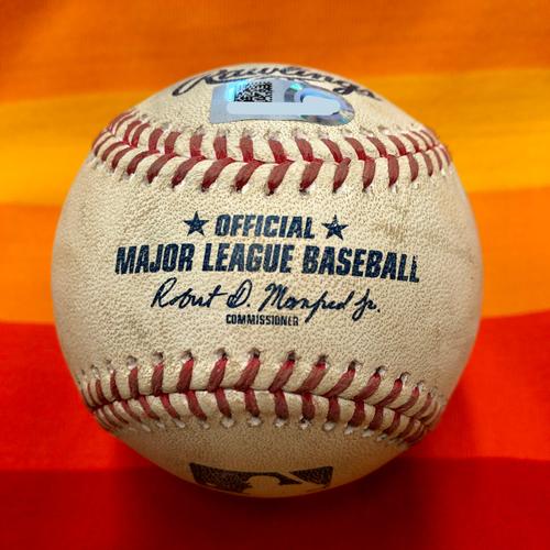 Game-Used Baseball 7/25/20 Astros Vs. Mariners: Walker to Brantley (Ball)