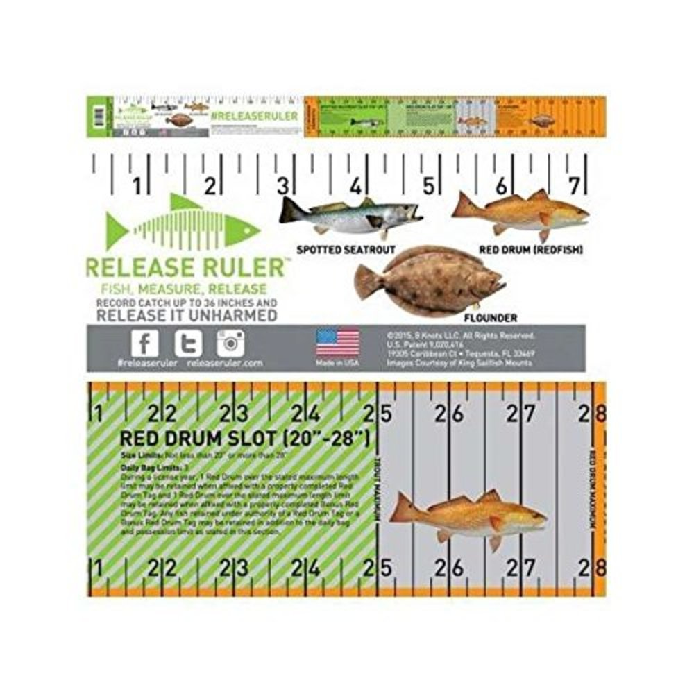 Photo of Release Ruler Texas Inshore Slam Decal - 3-inch