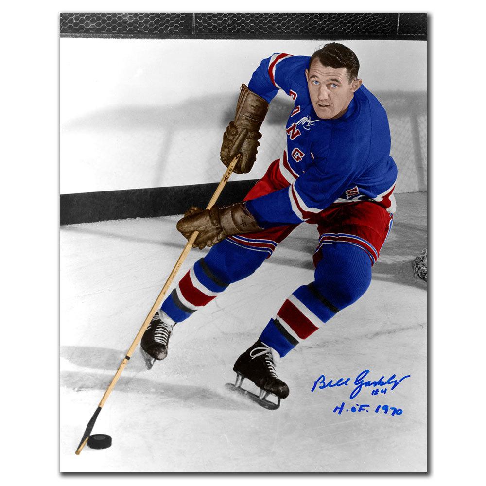 Bill Gadsby New York Rangers HOF Autographed 8x10