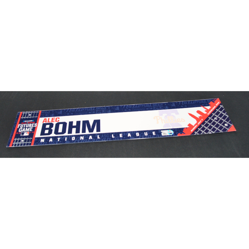 Photo of 2019 Futures Game - Game-Used Locker Name Plate - Alec Bohm - 7/15/2019