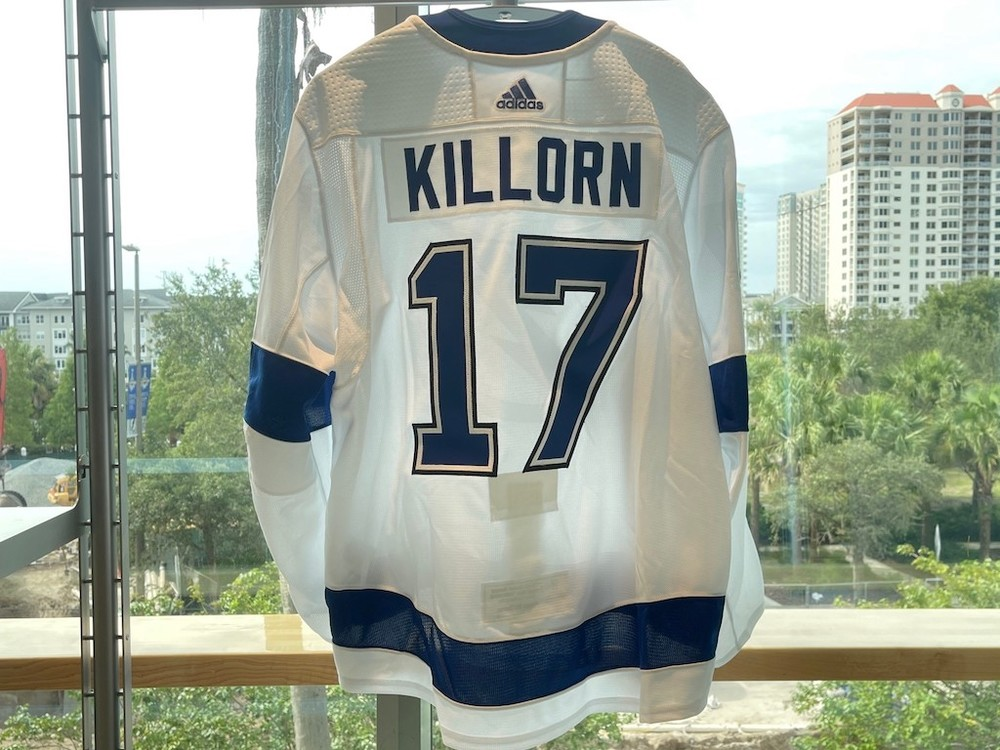#17 Alex Killorn Tampa Bay Lightning 2021 Stanley Cup Final Game-Issued Jersey