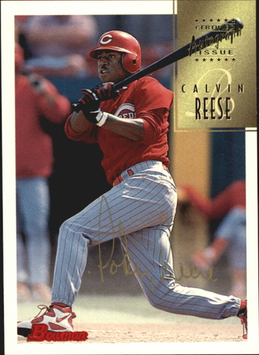 Photo of 1997 Bowman Certified Gold Ink Autographs #CA64 Pokey Reese