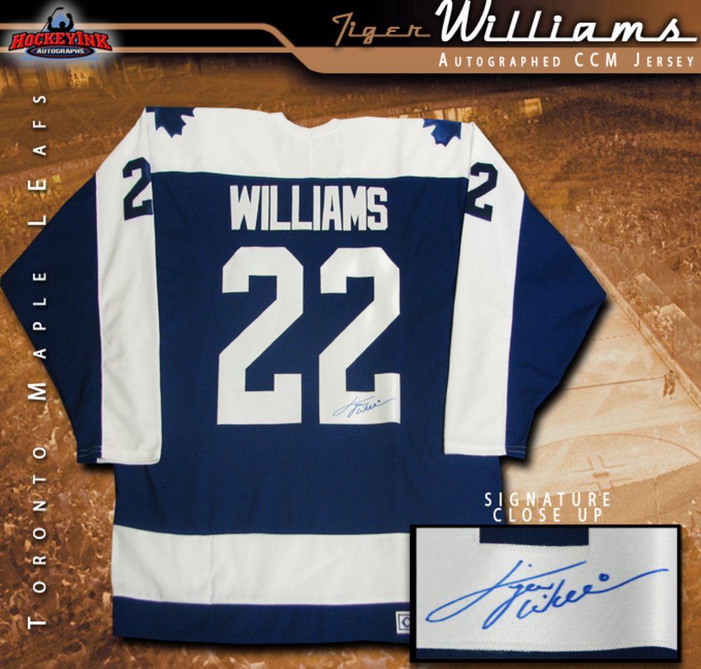 TIGER WILLIAMS Signed Toronto Maple Leafs Blue CCM Jersey
