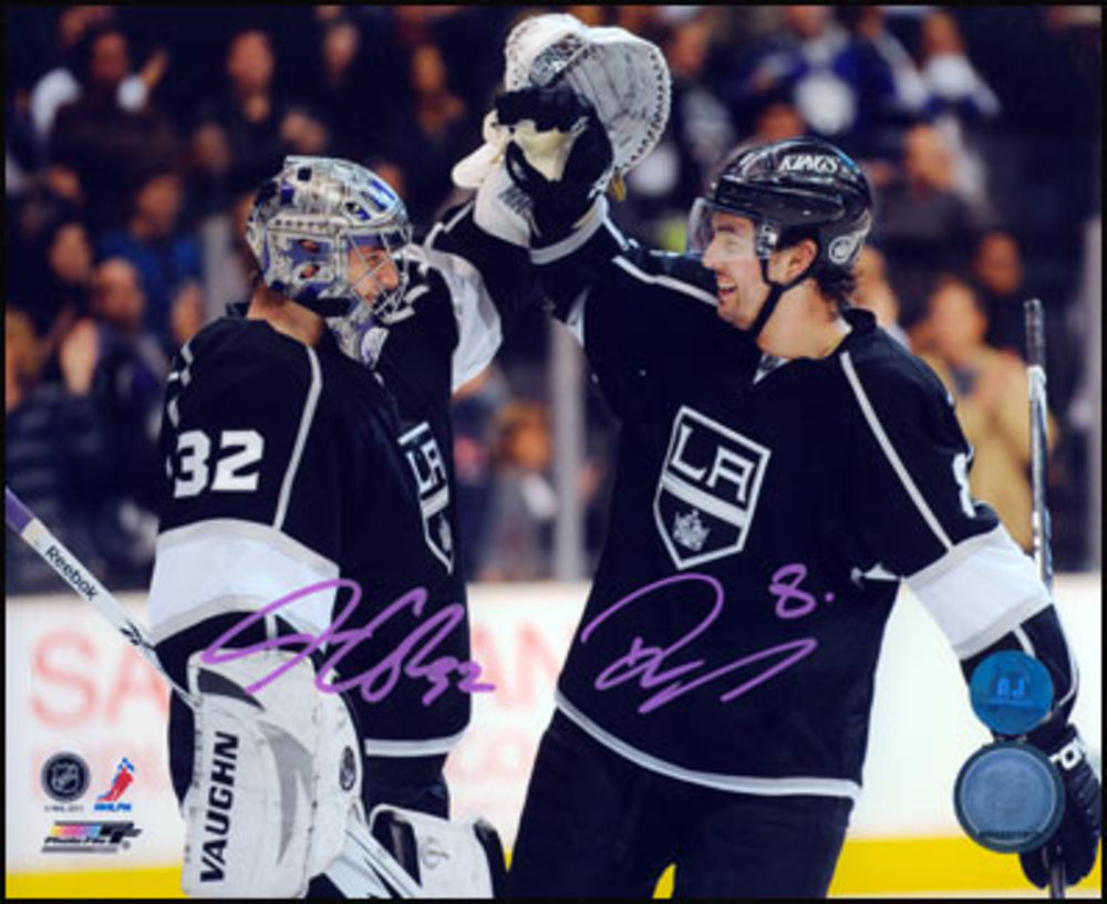 DREW DOUGHTY & JONATHAN QUICK Los Angeles Kings DUAL-SIGNED 8x10 Photo