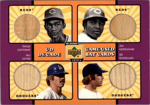 Photo of 2001 Upper Deck Decade 1970's Game Bat Combos #RD George Foster/Joe Morgan/Ron Cey/Bill Russell