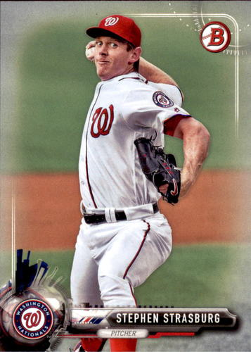 Photo of 2017 Bowman #14 Stephen Strasburg -- Nationals post-season