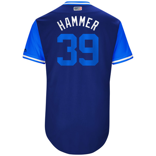 "Photo of Jason ""Hammer"" Hammel Kansas City Royals 2017 Game-Used Players Weekend Jersey"