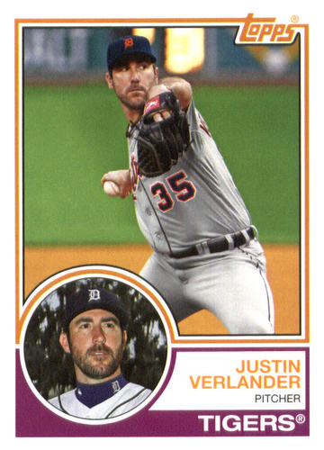Photo of 2015 Topps Archives #229 Justin Verlander -- Astros post-season