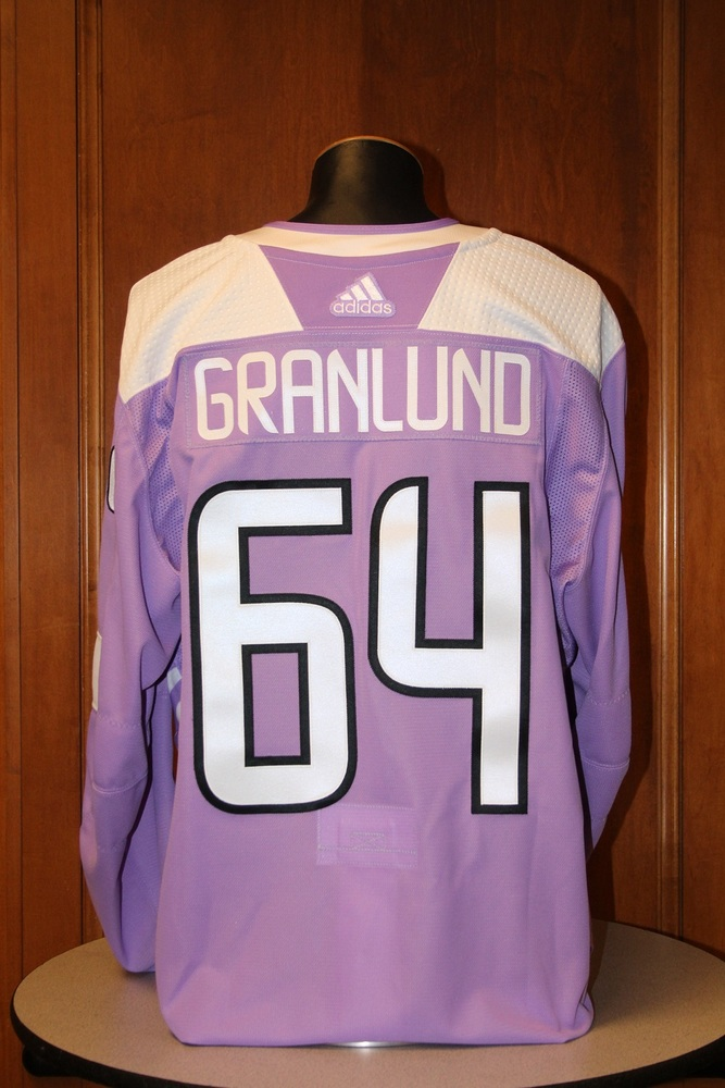 Mikael Granlund Minnesota Wild 2017 Hockey Fights Cancer Night Warm-Up Jersey (Size 56)
