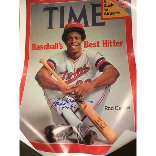 Photo of Rod Carew Time Magazine Autographed Poster
