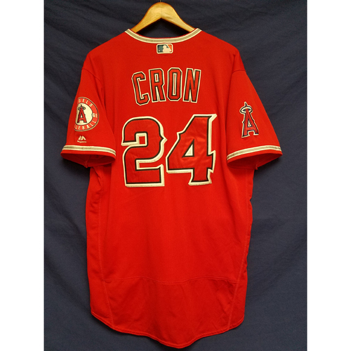 Photo of CJ Cron Alternate Red Game-Used Jersey