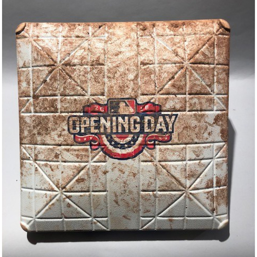 Photo of 2016 Baltimore Orioles Opening Day - 1st Base Used In Innings 7-9 - 4/04/16