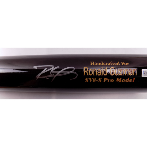 Photo of Ronald Guzman Autographed Bat