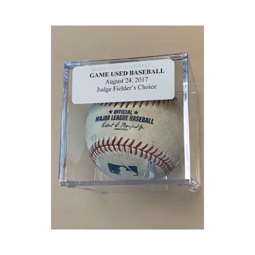 Photo of Game-Used Baseball: Aaron Judge Fielders Choice