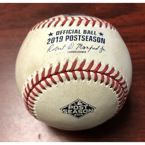 Photo of ALDS Game Used Baseball: First Pitch of Game 4 - Rays Win 4-1 & Blake Snell Records First Career Save - Tuesday, October 8, 2019 v HOU
