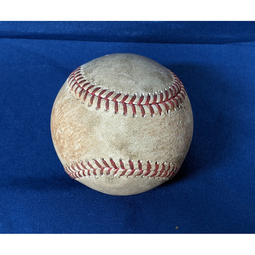 Photo of 2020 Game Used Baseball: Pitcher: Alex Wood, Batter: Mike Yastrzemski - Double - Top 2 - 7-25-2020 vs. SF