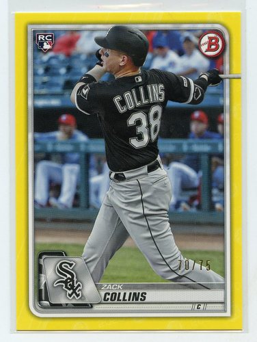 Photo of 2020 Bowman Yellow #48 Zack Collins