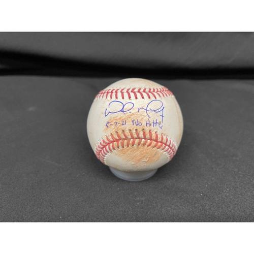 Photo of Wade Miley No-Hitter - *Autographed Game-Used Baseball* - Top 5 - Zach Plesac to Shogo Akiyama (Ball) - Inscribed as 5-7-21 No Hitter