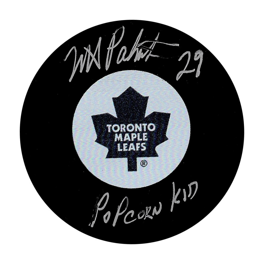 Mike Palmateer Autographed Toronto Maple Leafs Puck w/POPCORN KID Inscription