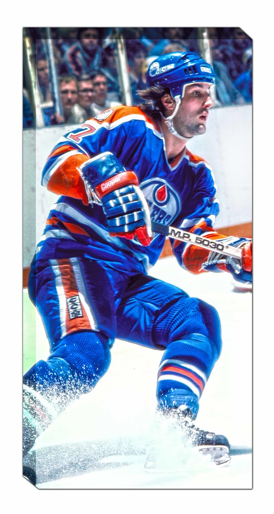 Paul Coffey - Unsigned 14x28 Canvas Oilers