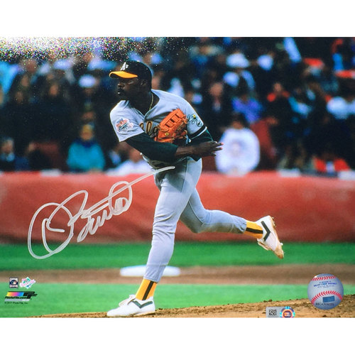 Photo of Dave Stewart Autographed 1989 World Series Photo