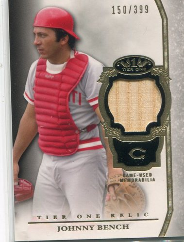 Photo of 2013 Topps Tier One Relics Johnny Bench 150/399 -- Hall of Famer