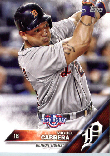 Photo of 2016 Topps Opening Day #OD150 Miguel Cabrera