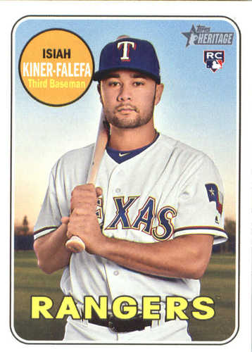 Photo of 2018 Topps Heritage #674 Isiah Kiner-Falefa RC