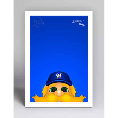 Photo of Bernie Brewer - Limited Edition Minimalist Mascot Art Print by S. Preston  - Milwaukee Brewers