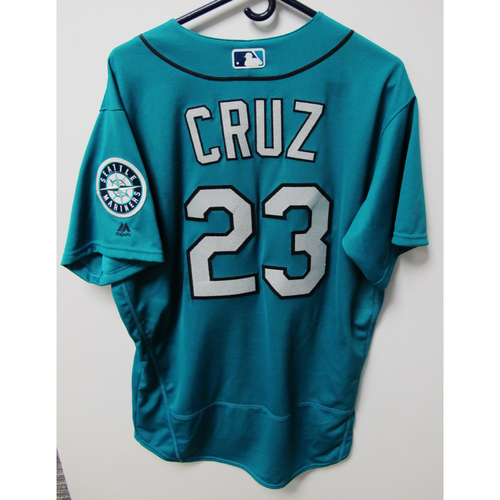 Photo of Seattle Mariners Nelson Cruz Game-Used Green Jersey - 7/6/18 vs. COL