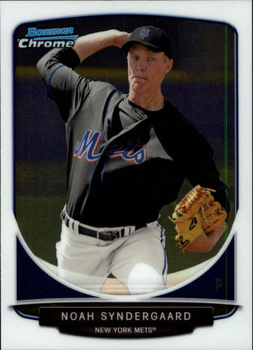Photo of 2013 Bowman Chrome Draft Top Prospects #TP22 Noah Syndergaard Pre-Rookie Card