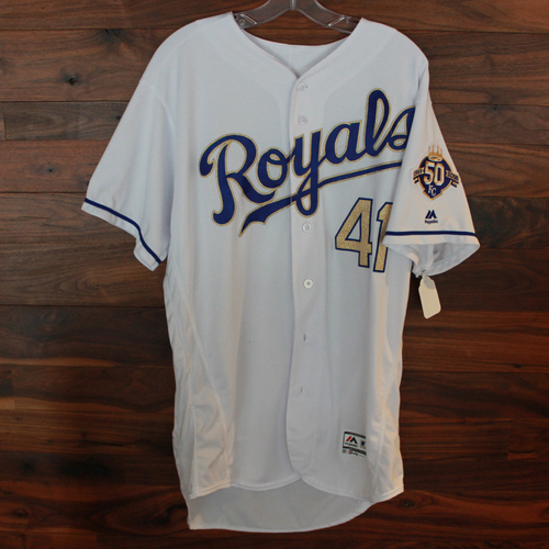 Photo of Game-Used Jersey: Danny Duffy (Size 46 - NYY @ KC - 5/18/18)