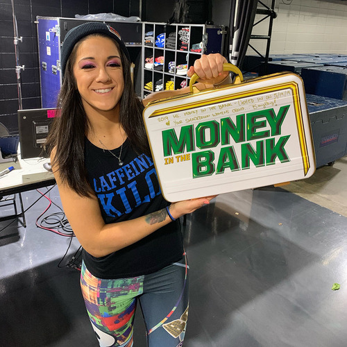 Photo of Bayley SIGNED Money in the Bank Women's Replica Briefcase