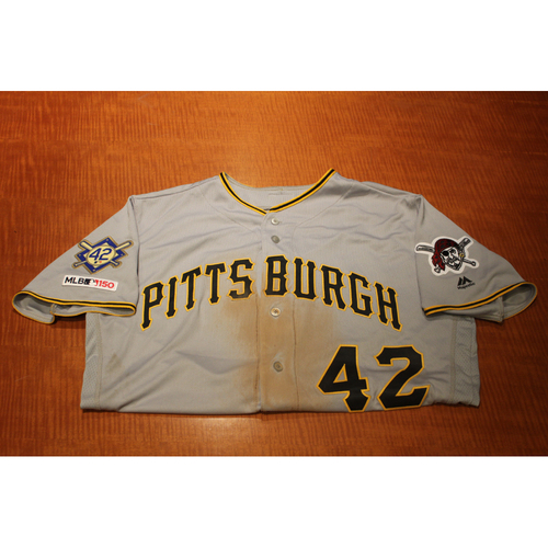 Photo of 2019 Jackie Robinson Day Game Used Jersey - Jung Ho Kang