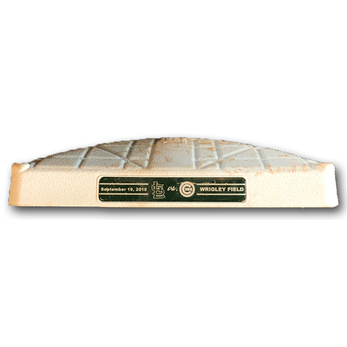 Photo of Game-Used 3rd Base -- Used in Innings 5 through 9 -- Cardinals vs. Cubs -- 9/19/19