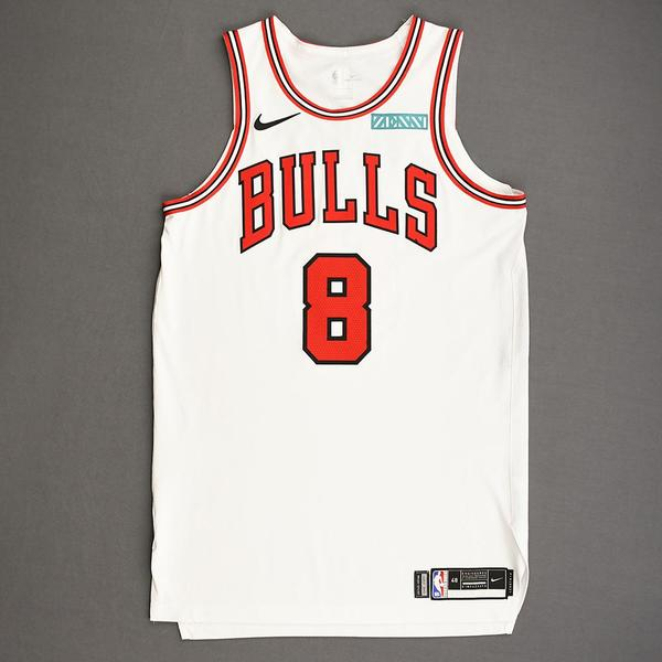 Image of Zach LaVine - Chicago Bulls - Kia NBA Tip-Off 2019 - Game-Worn Association Edition Jersey