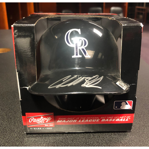 Photo of Colorado Rockies Autographed Mini-Helmet: Charlie Blackmon