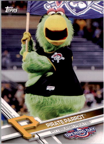 Photo of 2017 Topps Opening Day Mascots #M12 Pirate Parrot
