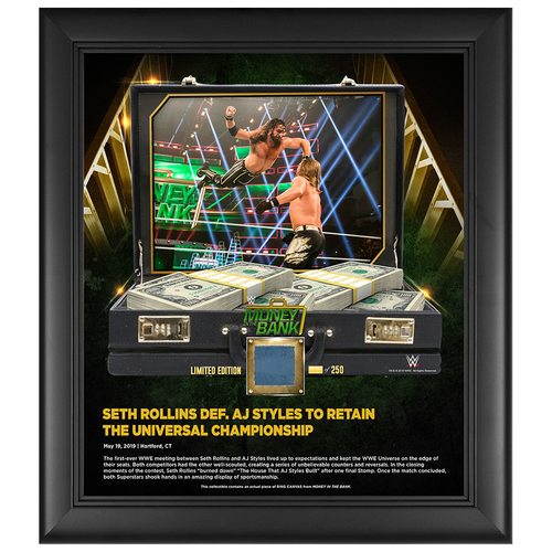 Photo of Money In The Bank 2019 Seth Rollins Limited Edition 15x17 Plaque (#1 of 250)