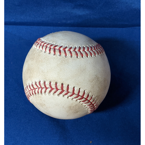 Photo of 2020 Game Used Baseball: Pitcher: Logan Webb, Batters: Cody Bellinger (Fly Out), Justin Turner (Double) - Bot 3 - 7-25-2020 vs. SF
