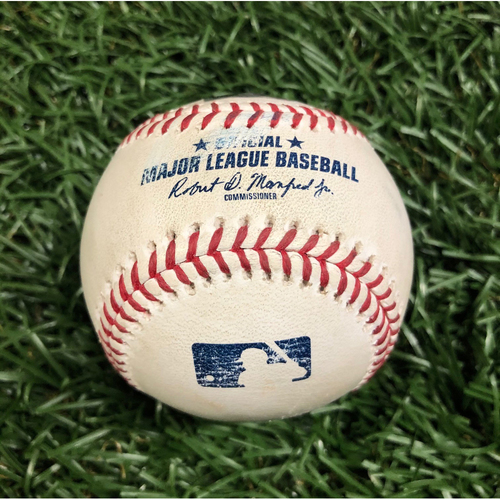 Photo of Rays Baseball Foundation: Game Used Home Run Baseball - Mitch Moreland - August 4, 2020 v BOS