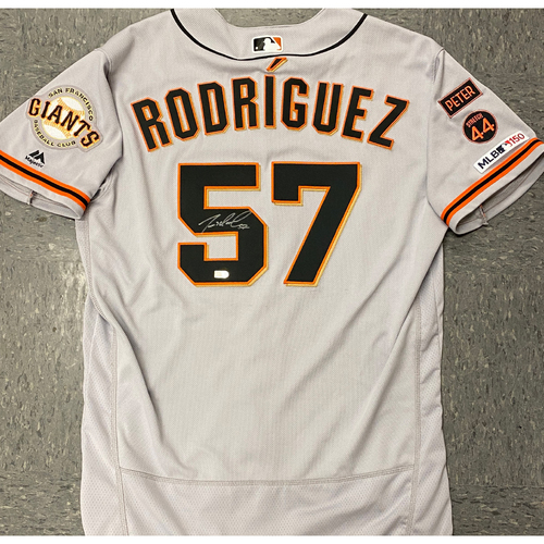 Photo of 2020 Black Friday Sale - #57 Dereck Rodriguez Team Issued Autographed 2019 Road Jersey - Size 46